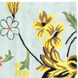 Safavieh Handmade Soho Blue New Zealand Wool Rug (8' Square)