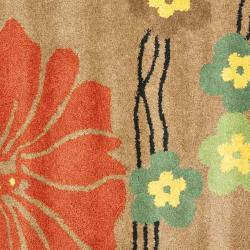 Safavieh Handmade Soho Brown New Zealand Wool Rug (8' Square)