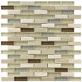 Somertile Reflections Subway York Stone and Glass Mosaic Tiles (Pack of 10)