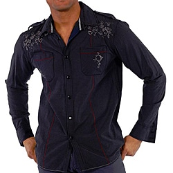191 Unlimited Men's Dark Gingham Shirt