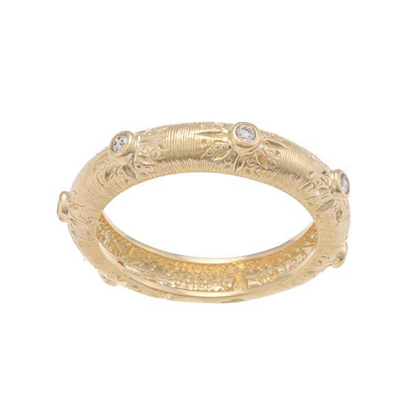 Beverly Hills Charm 14k Yellow Gold 1/8ct TDW Diamond Band Ring (H-I, I1-I2)