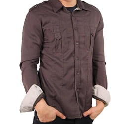191 Unlimited Men's Brown Shirt