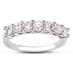Miadora 14k White Gold 1ct TDW 7-Stone Certified Diamond Band (G-H, SI1-SI2)