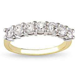 Miadora 14k White and Yellow Gold 1ct TDW Certified Diamond Ring (G-H, SI1-SI2)
