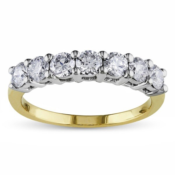 Miadora Signature Collection 14k Gold 1ct TDW Certified Diamond Anniversary Ring (G-H, SI1-SI2)