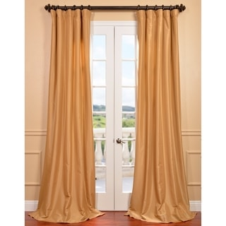 Honey Faux Silk Taffeta Curtain Panel