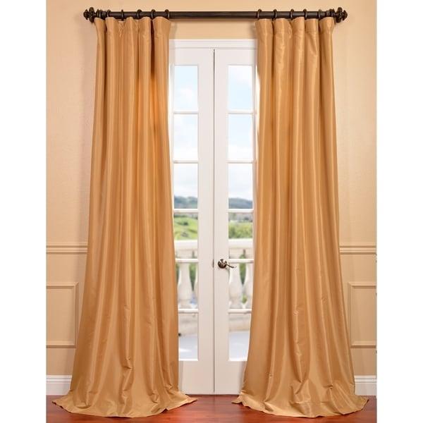 Honey Faux Silk Taffeta Curtain Panel