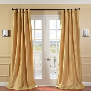 Honey Faux Silk Taffeta 108-inch Curtain Panel