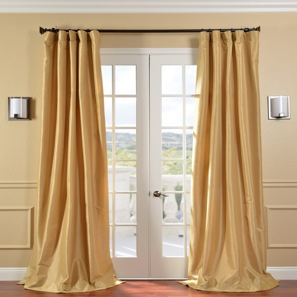 Exclusive Fabrics Honey Faux Silk Taffeta 108-inch Curtain Panel