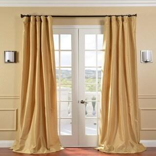 Honey Faux Silk Taffeta 120-inch Curtain Panel