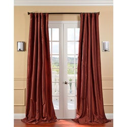 Paprika Faux Silk Taffeta 120-inch Curtain Panel