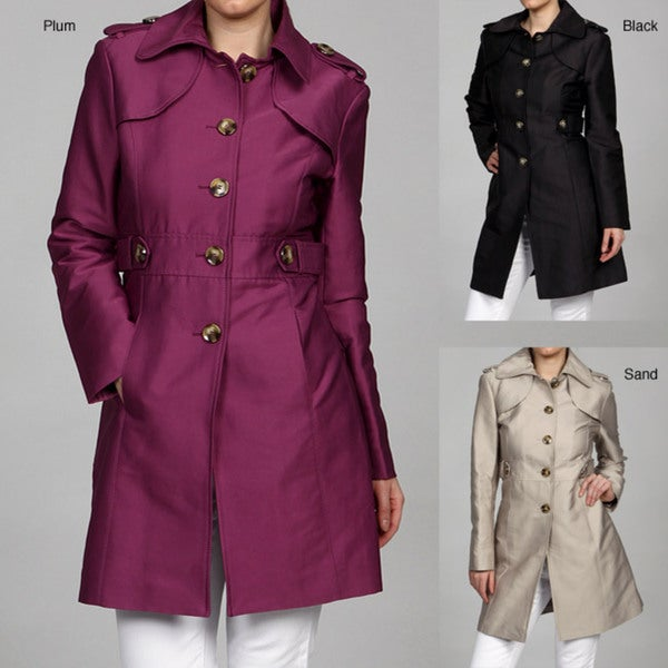 Kenneth Cole Women's Button Front Coat