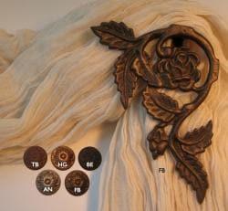 Flower Garden Curtain Holdbacks/Scarf Holders (Pack of 2)