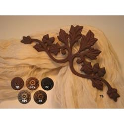 Oak Leaf Scroll 12-inch Drapery Crown