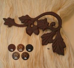 Oak Leaf Scroll Curtain Holdbacks/Scarf Holders (Pack of 2)