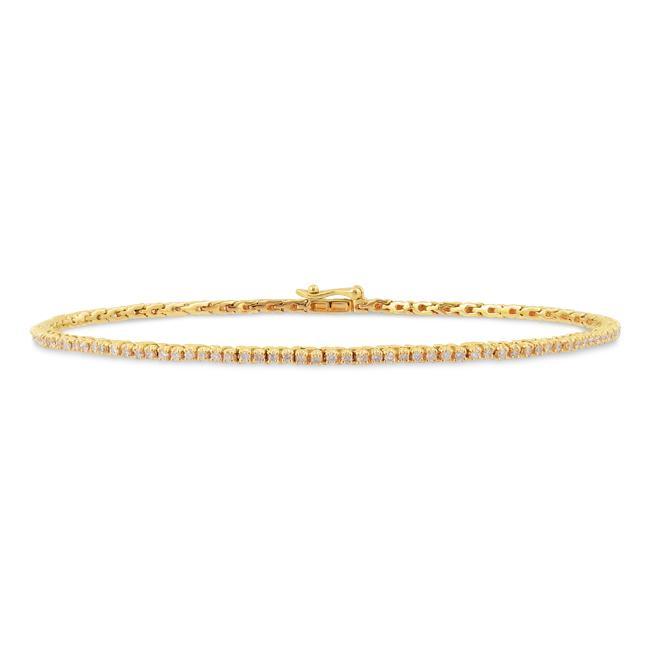 Miadora 14k Yellow Gold 1ct TDW Diamond Tennis Bracelet (G-H, I1-I2)