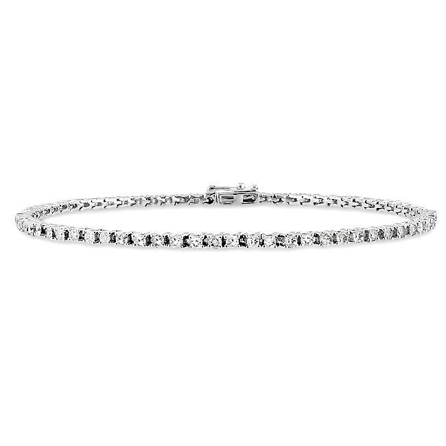 Miadora 14k White Gold 2ct TDW Diamond Tennis Bracelet (G-H, I1)