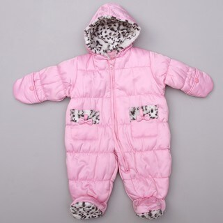 London Fog Newborn Girl's Pink Baby Pram Snowsuit