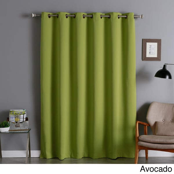 Aurora Home Wide Thermal 80-Inch Width Blackout Curtain Panel