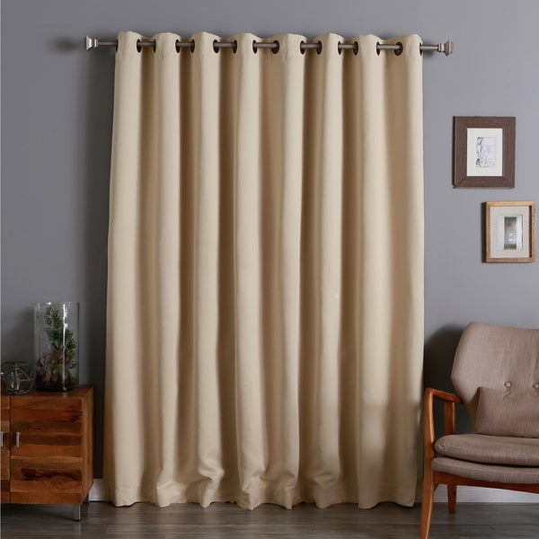 Aurora Home Extra Wide Thermal 100 x 84-inch Blackout Curtain Panel
