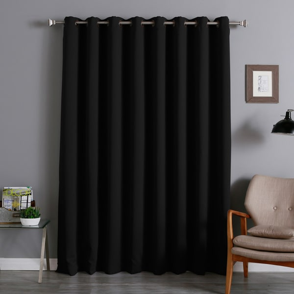 extra width thermal 100 x 84 inch blackout curtain panel overstock shopping great deals on. Black Bedroom Furniture Sets. Home Design Ideas