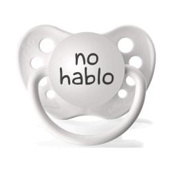 Personalized Pacifers No Hablo Pacifier in White