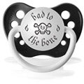 Personalized Pacifiers Bad To the Bone Pacifier in Black