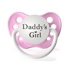 Personalized Pacifiers Daddy's Girl Pink Pacifier