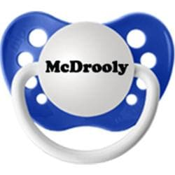 Personalized Pacifiers Blue McDrooly Pacifier