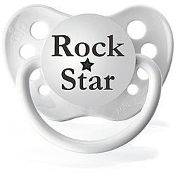 Personalized Pacifiers White Rock Star Pacifier