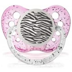 Personalized Pacifiers Glitter Pink Zebra Pacifier