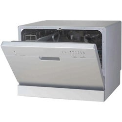 Portable Silver Countertop Dishwasher