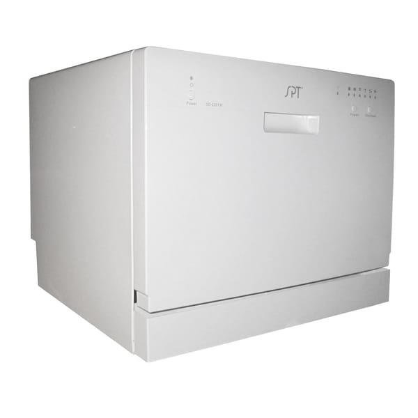 SPT SD-2201W White Countertop Dishwasher