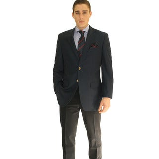 Ferrecci Men's Navy 2-button Blazer