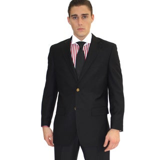 Ferrecci Men's Black 2-button Blazer