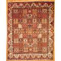 Persian Hand-knotted Bakhtiari Red/ Ivory Wool Rug (9'7 x 12')
