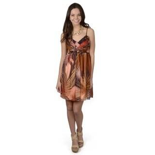 Journee Collection Women's Starburst Pattern Spaghetti Strap Dress
