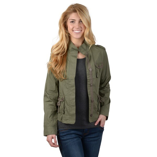 Ci Sono by Journee Juniors Four Pocket Long-sleeve Jacket