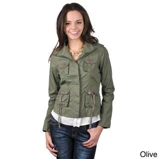 Ci Sono by Journee Juniors Four Pocket Long-sleeve Jacket