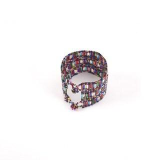Crystal Bead Pulsar Multicolor Bracelet (Guatemala)