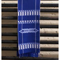 Traditional Royal-blue Cotton Unlined Hanukkah Tapestry (Guatemala)