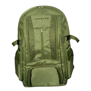 Imagine Eco-friendly Large Green 17-inch Laptop Backpack