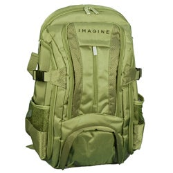 Imagine Eco-friendly Small Green 16-inch Laptop Backpack