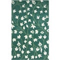 Hand-tufted Anabell Green Wool Rug (8' x 11')