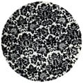 Hand-tufted Fenway Black Wool Rug (8' Round)