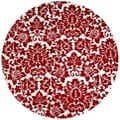 Hand-tufted Fenway Red Wool Rug (6' Round)