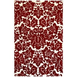 Hand-tufted Fenway Red Wool Rug (8' x 11')