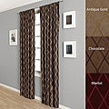 Dina Faux Taffeta Silk 84-inch Curtain Panel