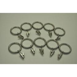 Brushed Nickel Steel 1.25-in Drapery Rings (Pack of 10)