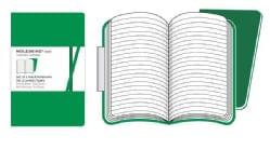 Moleskine Volant Ruled Notebook: Emerald Green - Oxide Green / Vert Emeraude - Vert Oxyde (Notebook / blank book)